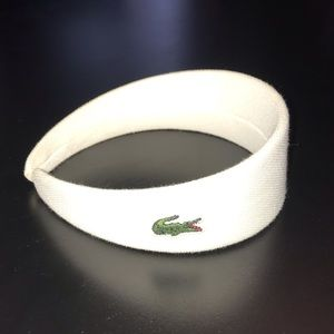 Lacoste all white cotton headband